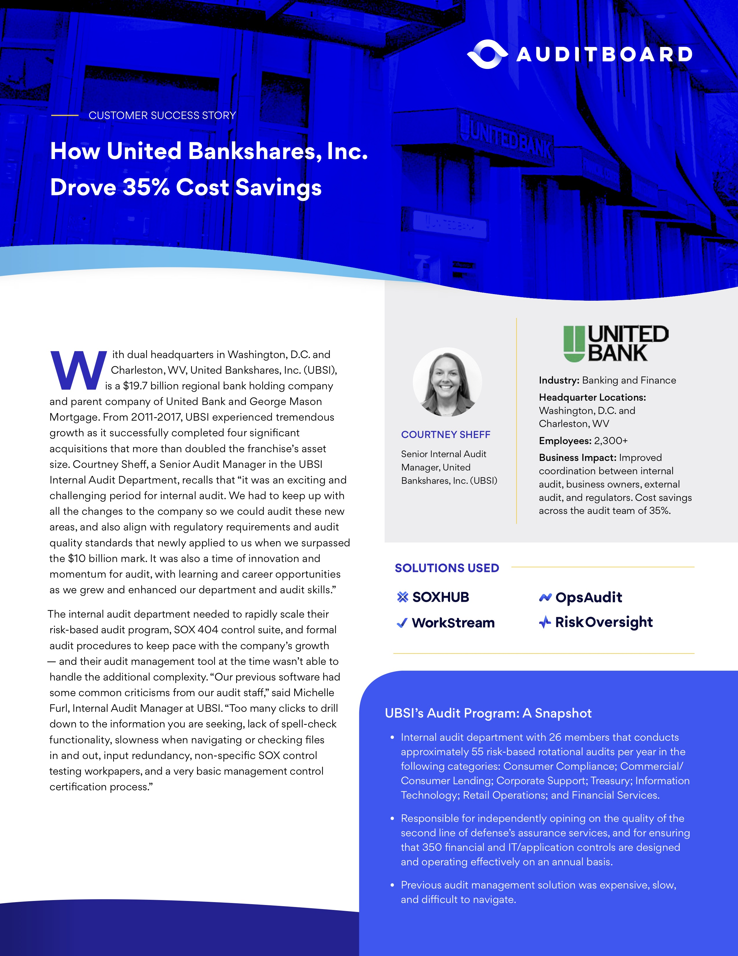 United Bankshares Success Story