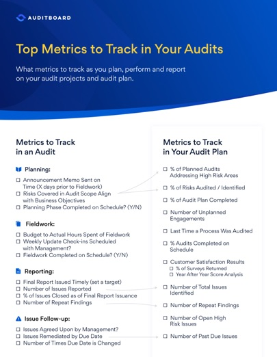 Top Metrics to Track in Your Audit