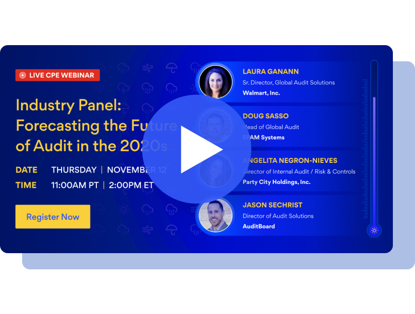 Industry Panel: Forecasting the Future of Audit in the 2020s