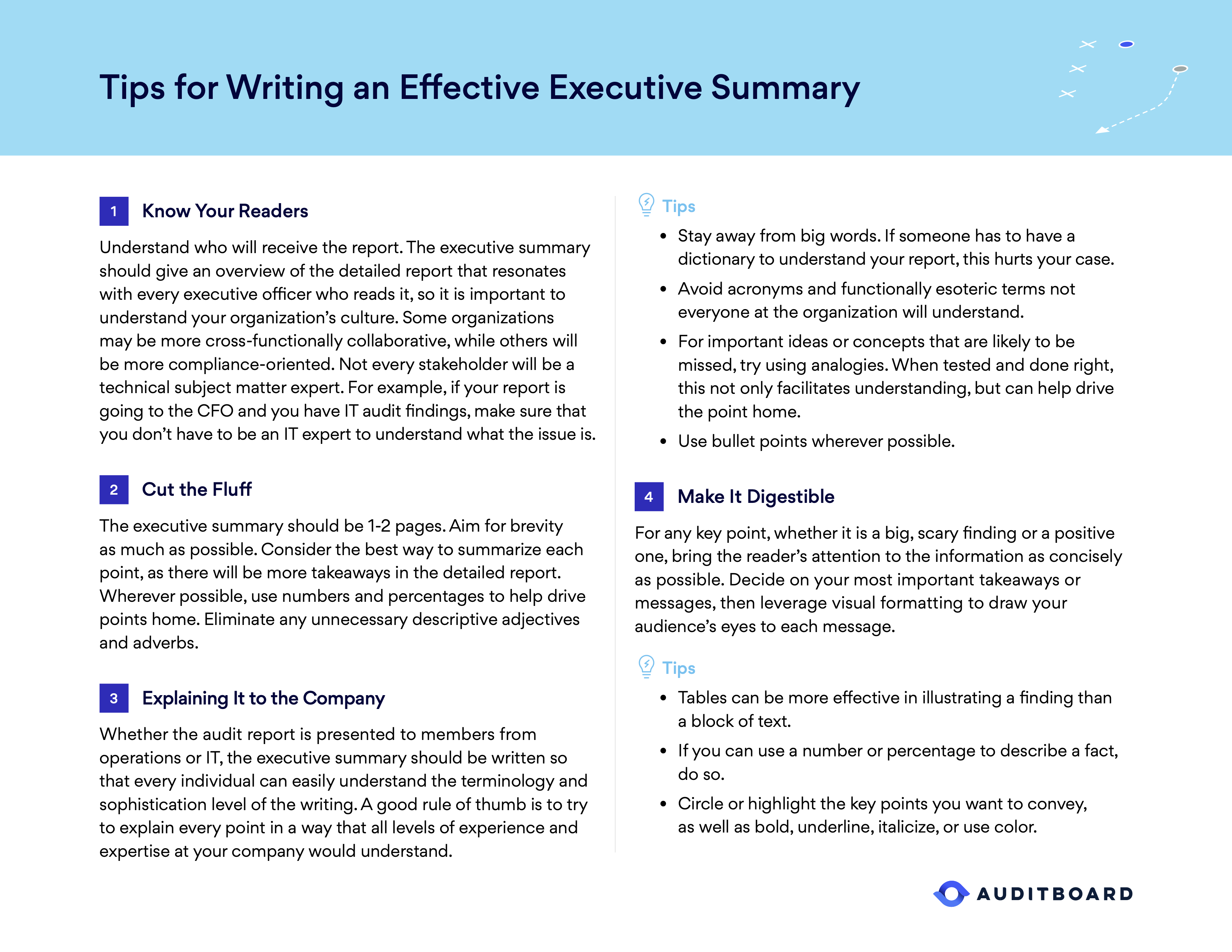 Tips for Writing an Effective Executive Summary