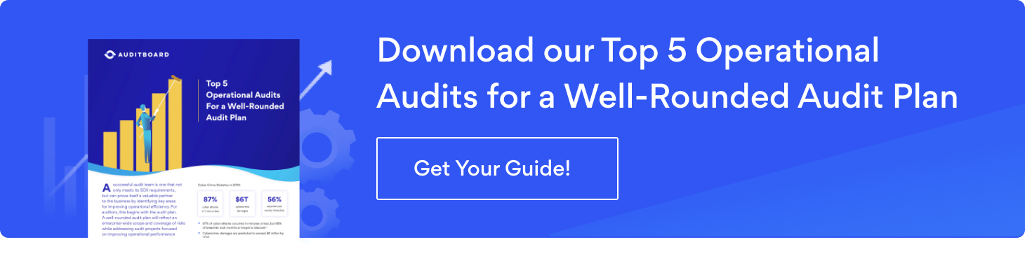 Click here to download our free Top 5 Operational Audits for a Well-Rounded Audit Plan guide